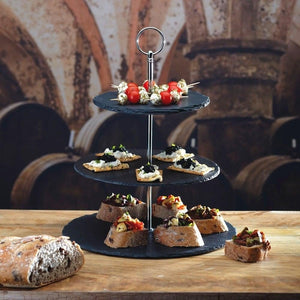 3-Tier Natural Slate Cake Stand