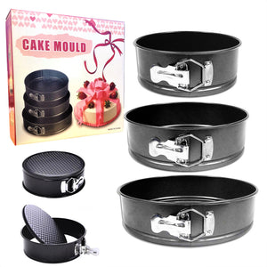 Set of 3 Round Non-Stick Cake Tins