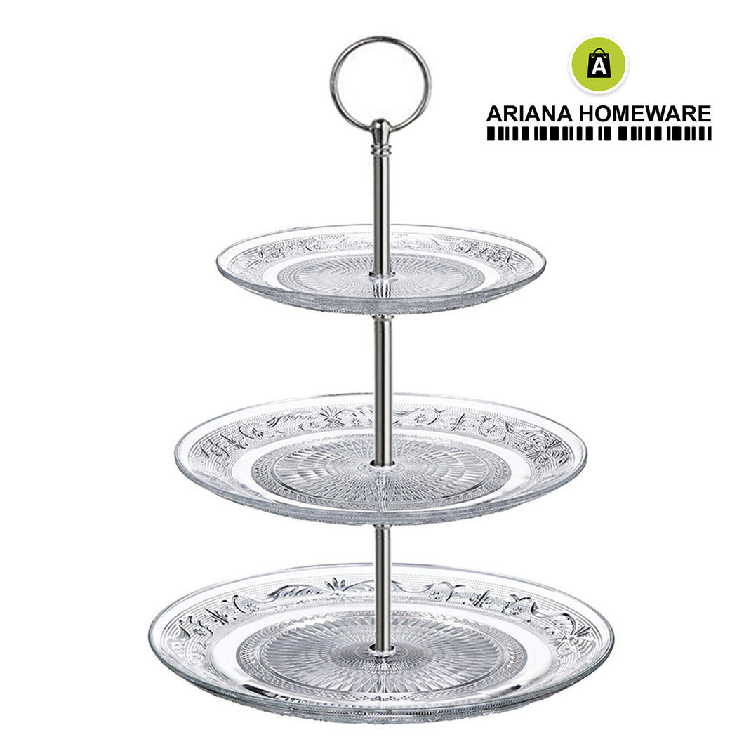 3-Tier Glass Cake Stand