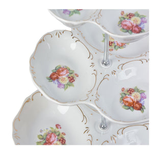 A-10 Vintage Floral Tray Cake Stand