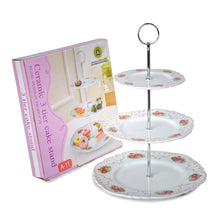Load image into Gallery viewer, A-11 White Floral Cake Stand