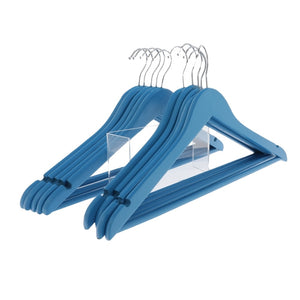 Blue Wooden Coat Hangers