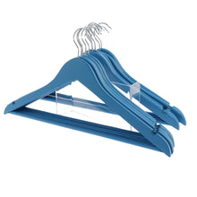 Load image into Gallery viewer, Blue Wooden Coat Hangers