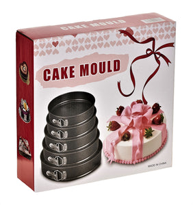 Set of 5 Round Non-Stick Cake Tins