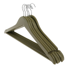 Load image into Gallery viewer, Olive Green Wooden Coat Hangers
