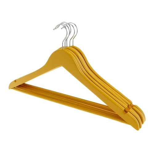 Golden Yellow Wooden Coat Hangers