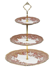 Load image into Gallery viewer, A-2 Golden Peach Floral Cake Stand
