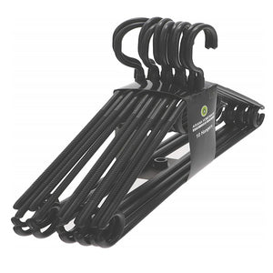 Heavy Duty Black Plastic Hangers