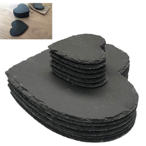 Set of 12 Slate Heart Placemats & Coasters