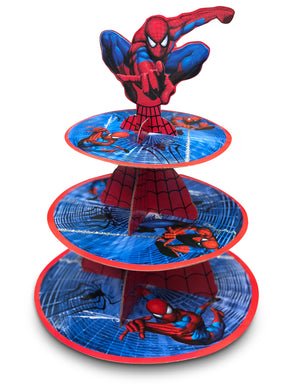 Spiderman Cupcake Stand 3-Tier