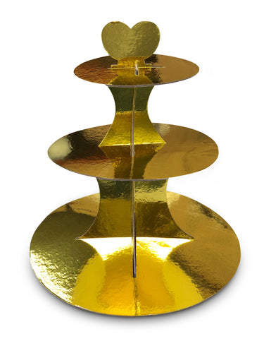 Gold Cupcake Stand 3-Tier