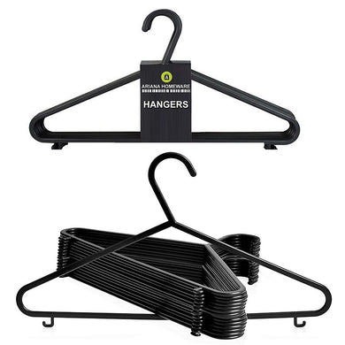 Ariana Homeware® Black Plastic Clothes Hangers