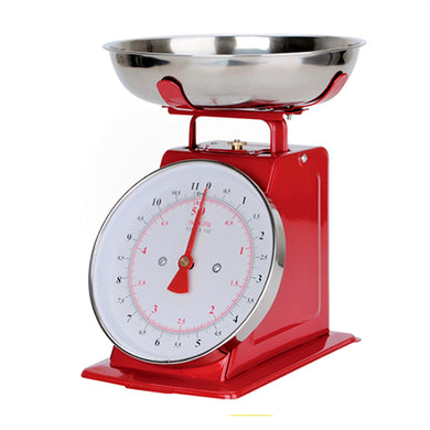 5KG Classic Kitchen Scale with Bowl [RED]