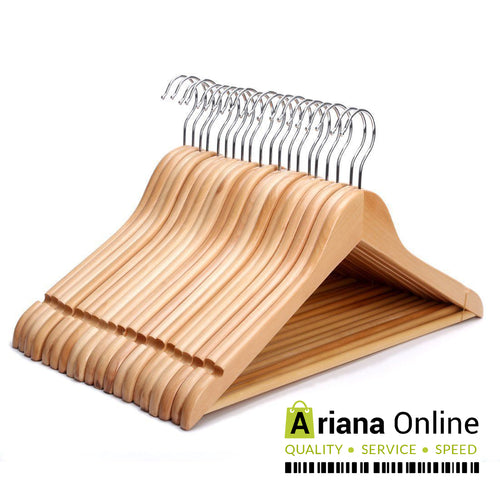 Ariana Homeware® Natural Wooden Hangers Grade A