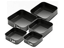 Load image into Gallery viewer, Set of 5 Square Non-Stick Cake Tins