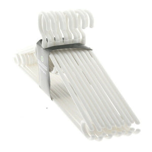 Heavy Duty White Plastic Hangers