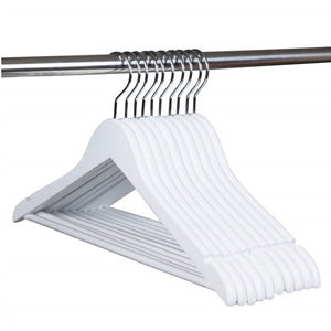 White Wooden Coat Hangers