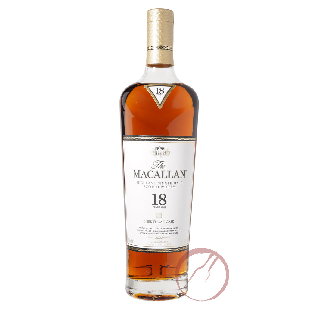 The Macallan Sherry Oak Cask 18 Year Old 2020 release