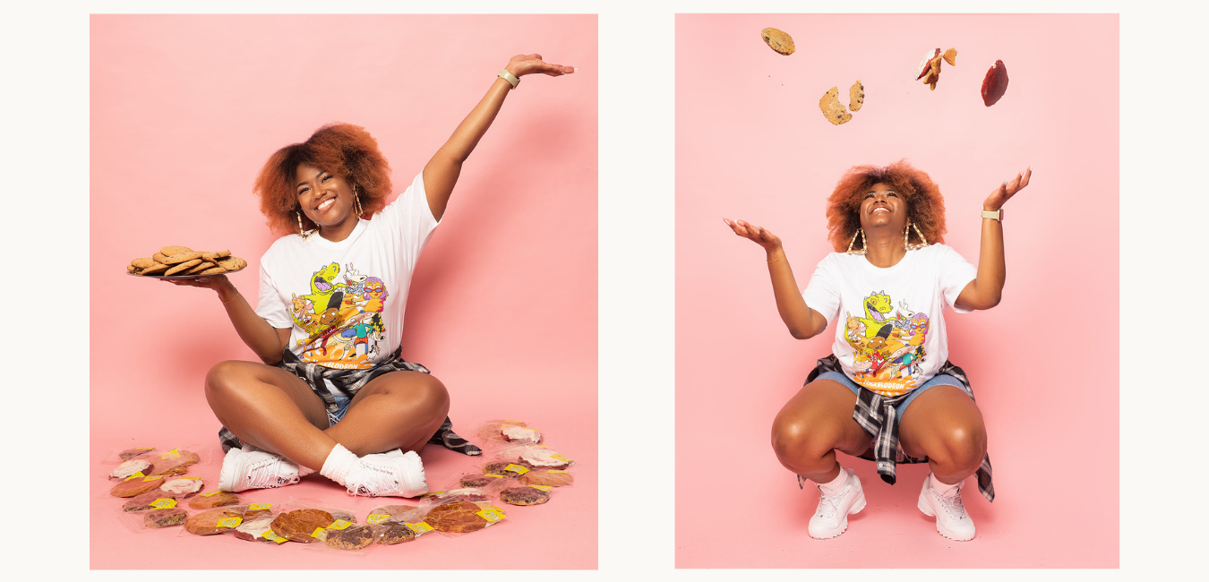 black woman with cookies