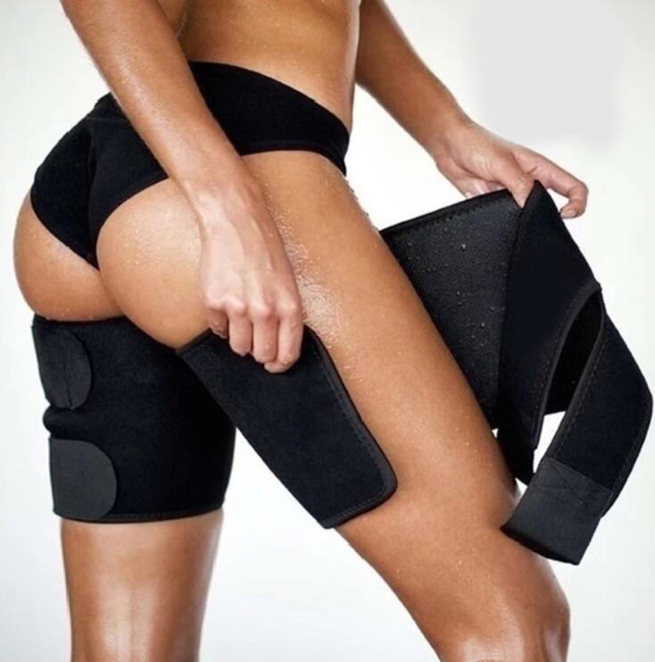 Neoprene Thigh Trimmers For Men & Women (2 Packs) Leg Support Wrap Sauna Belts