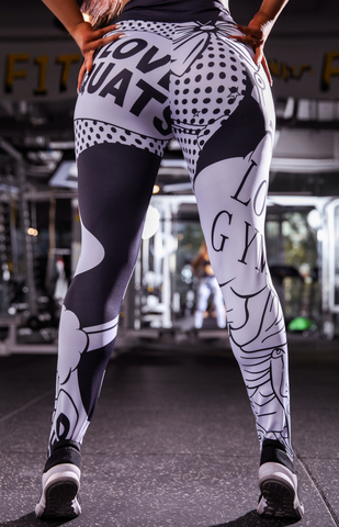 Image of I Love Squats Pop Comic Leggings