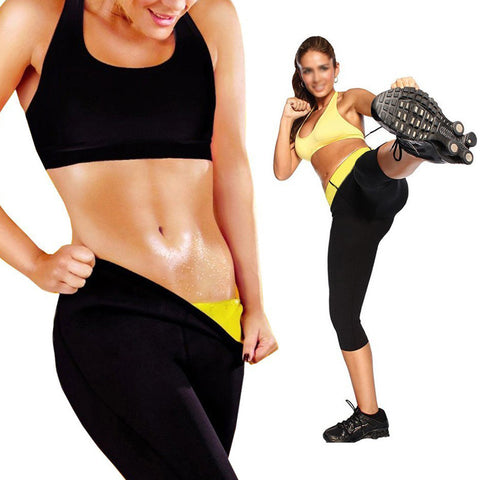 Image of Neoprene Thermal Hot Body Slimming Capri Leggings Shaper