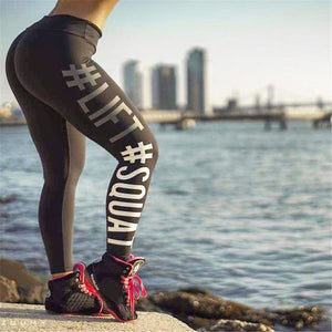 Workout Hashtag Push Up Leggings