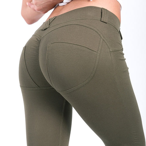 Image of Low Waist Push Up Belt Hoop Leggings