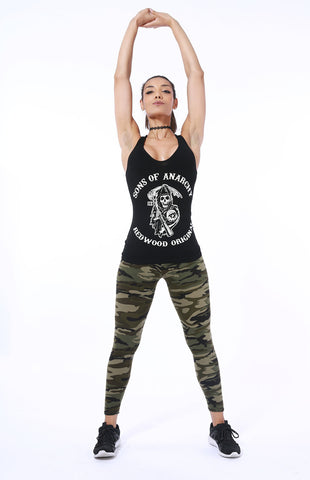 Image of Camo Print Stretched Camouflage Leggings