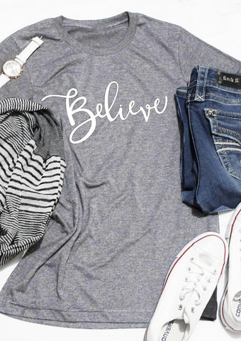Believe Short Sleeve T-Shirt