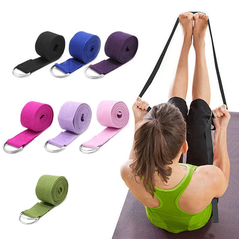 Yoga Stretch Strap Leg Resistance Fitness Bands Yoga Belt