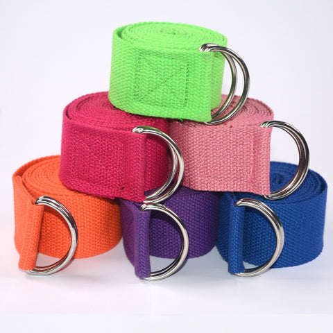 Image of Yoga Stretch Strap Leg Resistance Fitness Bands Yoga Belt