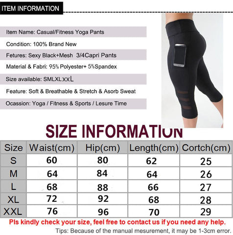 Image of Push Up Mesh Pocket Leggings