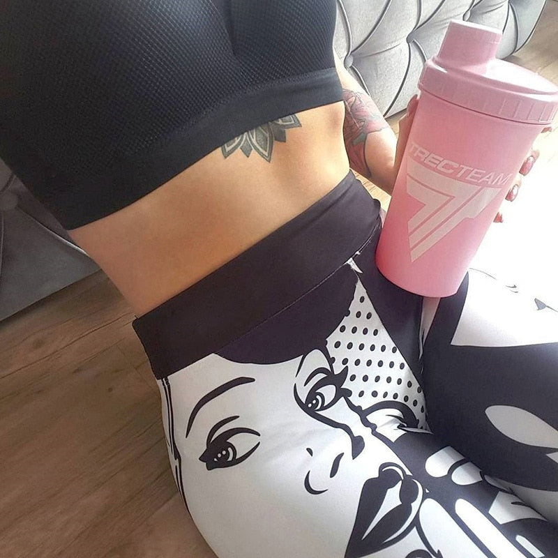 I Love Squats Pop Comic Leggings