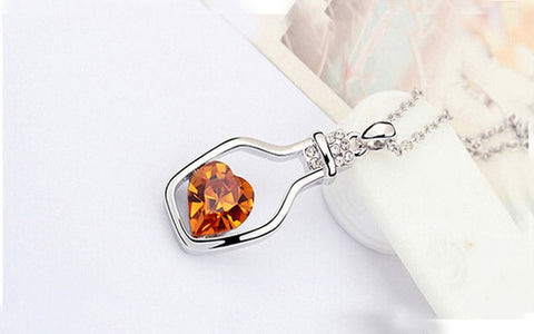 Image of Bottle of Love Crystal Necklace