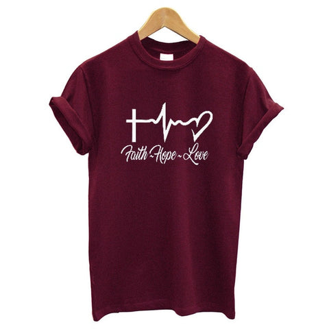 "Image of ""Faith Hope Love"" Women's T Shirt"