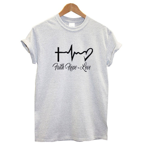"""Faith Hope Love"" Women's T Shirt"