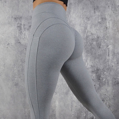 Image of High Waist Push Up Elastic Casual Leggings