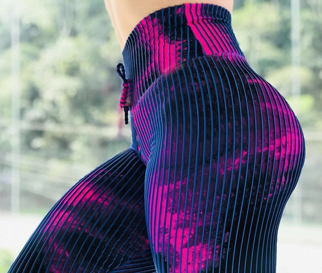 Neon Snake Skin Printed Leggings