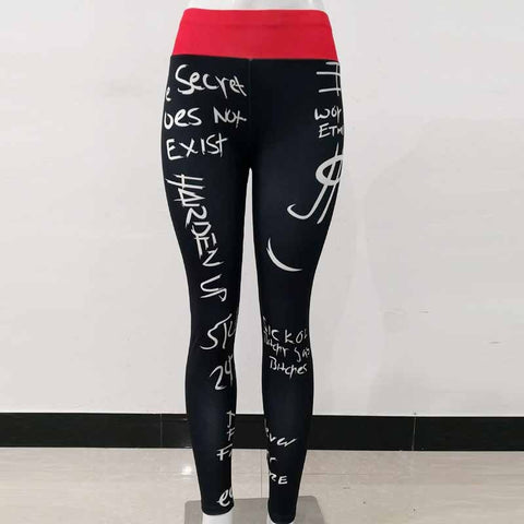Image of No Days Off Black Printed Leggings