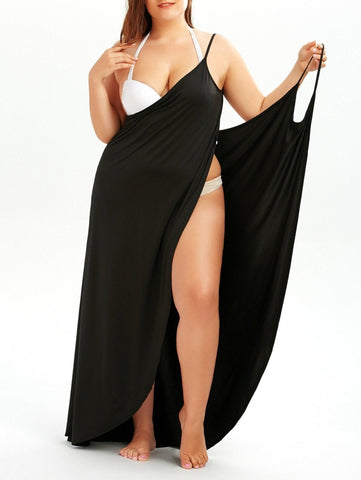 Image of Beach Sling Sarong Dress Bikini Cover Up Wrap