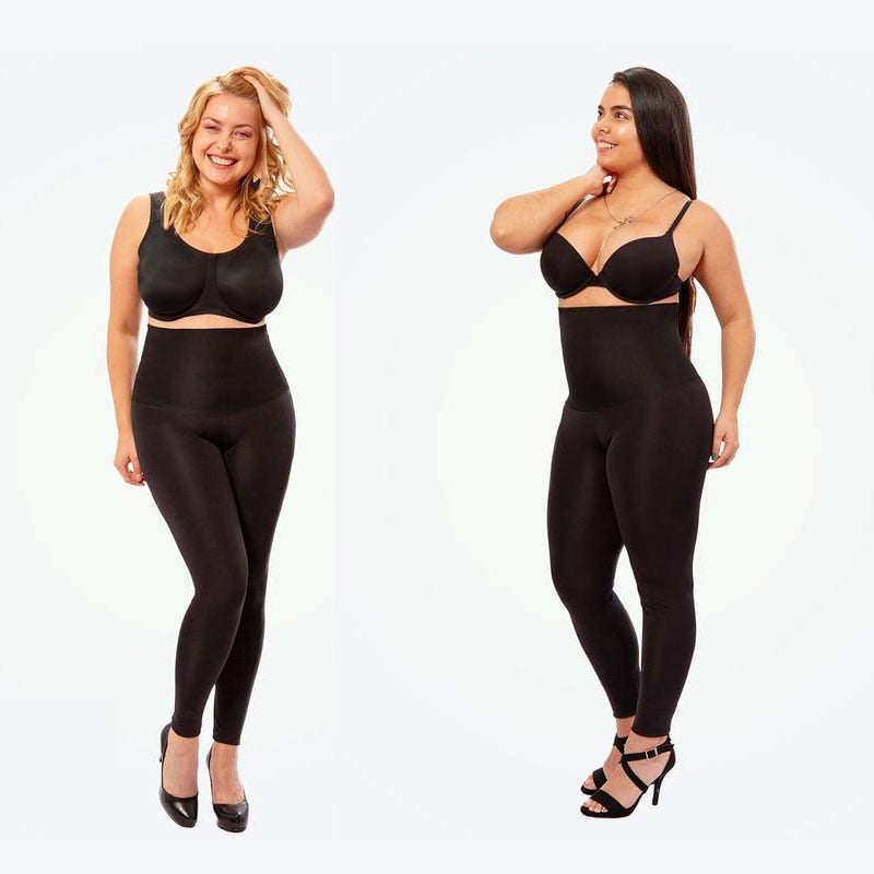 Ultra High Waist Shaping Tummy Control Black Leggings for Women