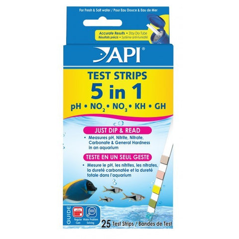 API QUICK TESTING STRIPS 5 IN 1 25 PACK