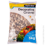 AQUA ONE DECORATIVE GRAVEL 5KG NATURAL POLISHED STONE