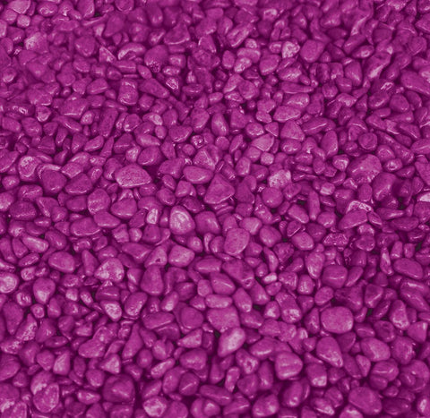 AQUA ONE DECORATIVE GRAVEL 1KG PURPLE