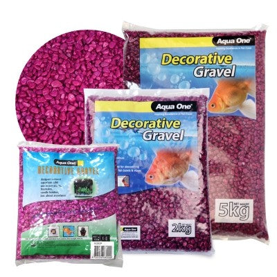 AQUA ONE DECORATIVE GRAVEL 2KG PURPLE
