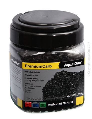 AQUA ONE PREMIUMCARB ACTIVE CARBON 250G