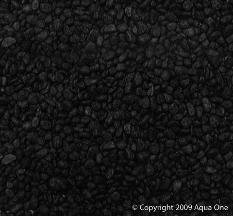AQUA ONE DECORATIVE GRAVEL 1KG BLACK