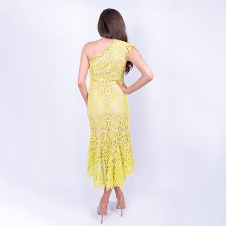 One-Shoulder Lace Dress