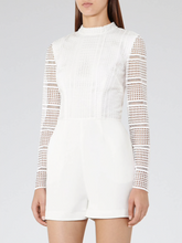 Load image into Gallery viewer, White Lace Playsuit